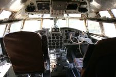 Free Cockpit Of An Old Airplane Royalty Free Stock Images - 15187609