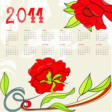 Calendar For 2011 Royalty Free Stock Photos