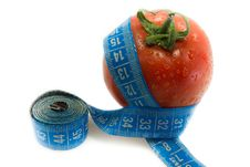 Free Tomato And Measurement Tape Stock Photography - 15188802