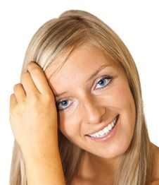 Free Blond Tan Woman Portrait Royalty Free Stock Image - 15188896