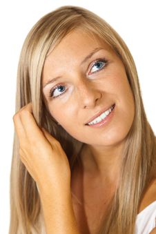 Free Blond Tan Woman Portrait Royalty Free Stock Photos - 15188908