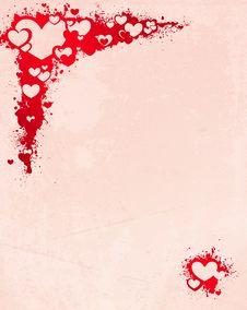 Splashed Hearts Stock Image