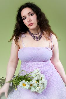 Free Lovely Young Woman Wearing Lacy Dress Stock Photo - 15189520