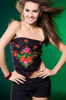 Free Beautiful Woman On Green Stock Photos - 15189663