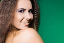 Free Beautiful Woman On Green Stock Image - 15189711