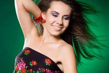 Free Beautiful Woman On Green Stock Photo - 15189730