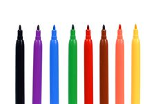 Free Set Of Felt-tip Pens Royalty Free Stock Image - 15189866