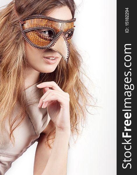 Girl with the Venetian mask