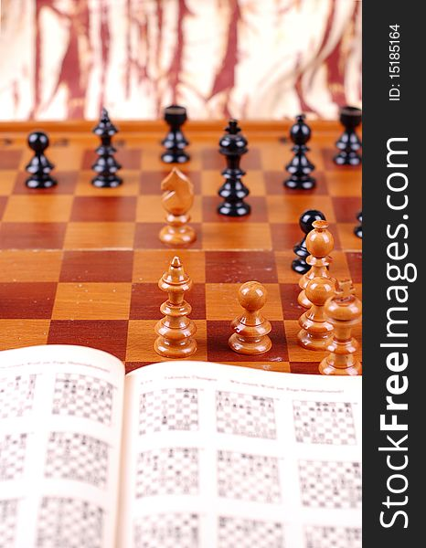 Chess Table And Chess Book Free Stock Images Photos 15185164