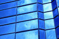 Free The Blue Glass Wall Of Building Stock Photo - 15190820