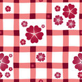 Free Red-white Floral Seamless Pattern Stock Photo - 15192710