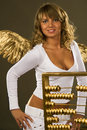 Free Angel With A Golden Abacus Stock Photography - 15199032