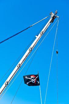 Free Pirate Flag Royalty Free Stock Image - 15190056