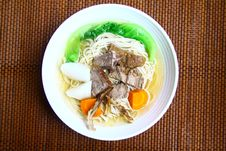 Free Beef Noodles Stock Image - 15190611
