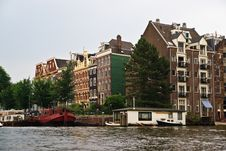Free Amsterdam Typical Houses Stock Photography - 15191482
