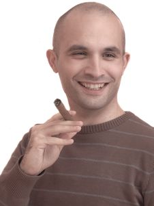 Free Man Smoking A Cigar Stock Photos - 15191893