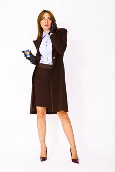 Free Woman Wearing Business Costume Stock Image - 15192081