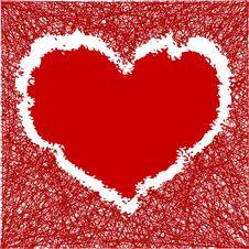 Scribble Heart Stock Photo
