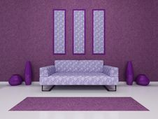 Free Violet Sofa Stock Image - 15192811