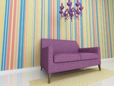 Free Violet Chair Royalty Free Stock Photography - 15192817
