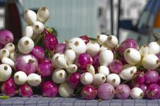 Onions For Sale Royalty Free Stock Photography