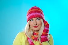 Free Pretty Funny Woman In Hat And Gloves Royalty Free Stock Photos - 15194138