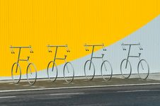 Free Four Bicycle Holders Royalty Free Stock Images - 15194409