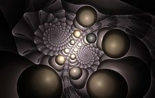 Free Spiral Fractal Royalty Free Stock Photography - 15195437