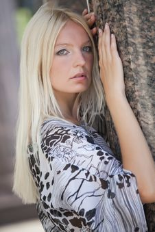 Blond Fashion Woman Royalty Free Stock Photography