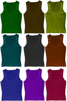 Free Tank Tops In Bright Colors Royalty Free Stock Photography - 15196507