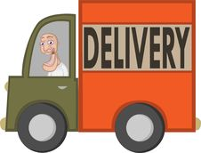 Free Delivery Guy Royalty Free Stock Photos - 15197138