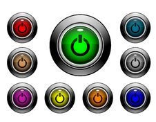 Icon Button Series - Power Stock Images