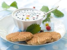 Cookies With Cup Of Milk Stock Photography