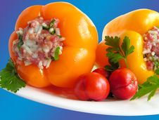Free Stuffed Peppers The Blue Stock Photography - 15198692