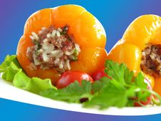 Free Stuffed Peppers The Blue2 Stock Image - 15198711