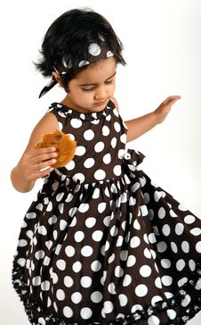 Free Toddler Eating Chocolate Chip Cookie Royalty Free Stock Photos - 15198778