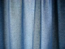 Texture Of Blue Curtain Fabric Stock Images