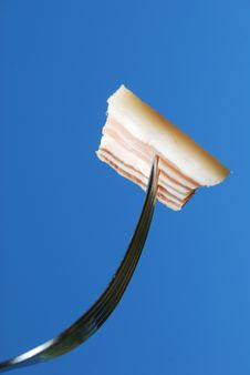 Free Fork With A Slice Of Bacon Royalty Free Stock Photos - 15198918