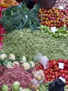 Vegetable Market In Funchal, Madeira Royalty Free Stock Photography