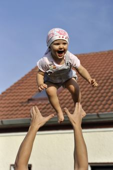 Free Flying Baby Stock Photo - 15199390
