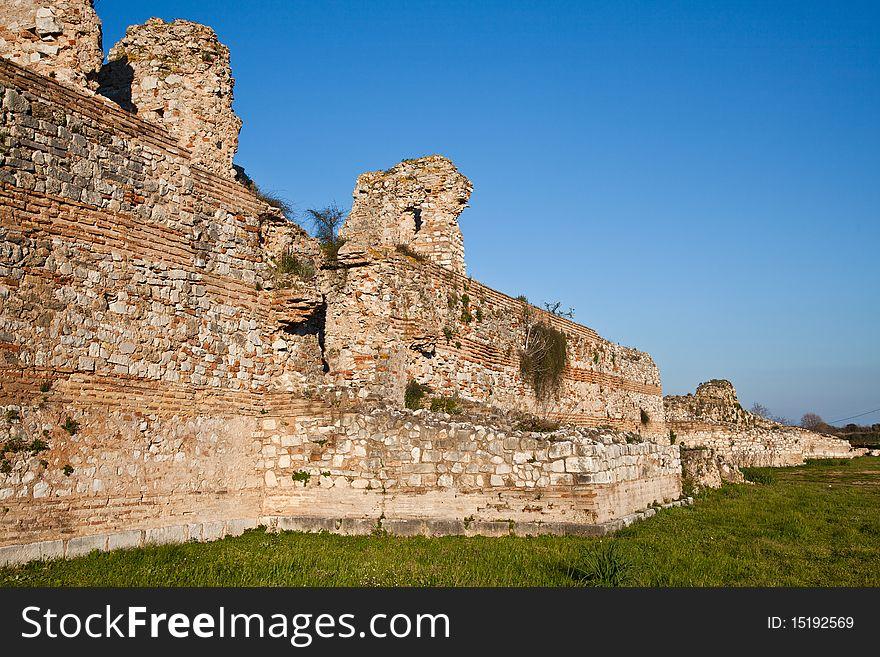 Details of Nicopolis Archeological Site