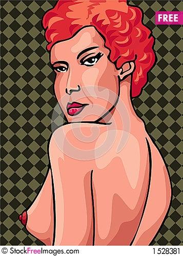 Free Nude Redhead Woman Stock Image - 1528381