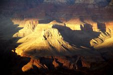 Grand Canyon From Bright Angel Lodge Stock Photo