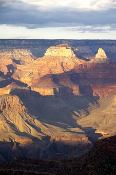 Grand Canyon From Bright Angel Lodge Royalty Free Stock Photo
