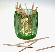 Glass Toothpick Holder Stock Photo