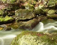 Free Mountain River Stream. Royalty Free Stock Photography - 1521377