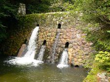 Mountain River Stream. Waterfall. Stock Image