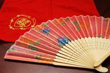Oriental Fan Stock Photography