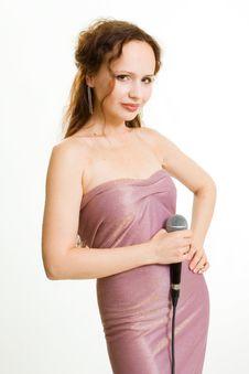 Free Pretty Singer. Stock Photos - 1521933