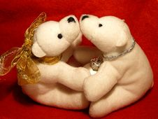 Free Teddy S X-mas Kiss Royalty Free Stock Image - 1523246